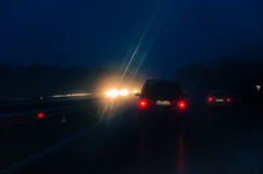 Night on a road Royalty Free Stock Images