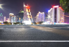 Night Road in  city. Night Road in modern city Royalty Free Stock Image