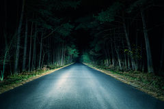 Night Road Stock Image