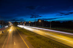 Night road of Korat thailand Stock Photos