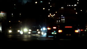 Night road. stock video footage