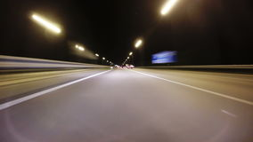 Night road. Time lapse of the night road stock video