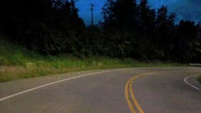 Night Road Time lapse. Driving through Anchorage, Alaska HD stock footage
