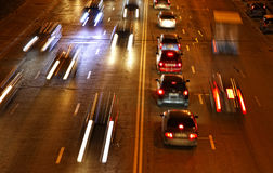 Night road traffic Stock Photos