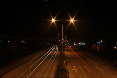 Night road traffic Royalty Free Stock Photo