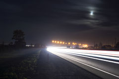 Night road traffic Royalty Free Stock Photos