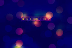 Night road trip Royalty Free Stock Photo