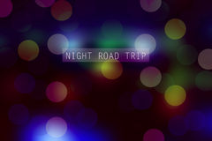 Night road trip Royalty Free Stock Photos