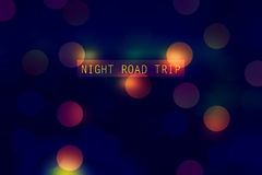 Night road trip. Abstract background - night road trip  (made in color RGB. only web Stock Photos
