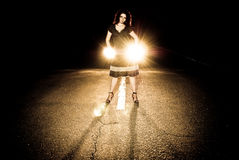 Night road view Royalty Free Stock Photos