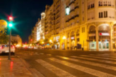 Night roadway blur background Royalty Free Stock Photography