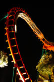 Night Roller Coaster Royalty Free Stock Photography