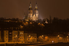 Night romantic Prague gothic castle, Czech republic Royalty Free Stock Photography