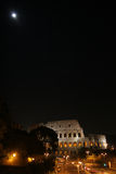 Night Rome. Night over Coliseum in Rome. Italy stock photo