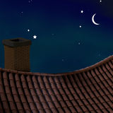 Night roof. Royalty Free Stock Images