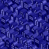 Night roofs seamless pattern. Royalty Free Stock Photo