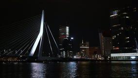 Night Rotterdam. City centre of Rotterdam at night Stock Photography