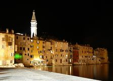 Night Rovinj bay Stock Photos