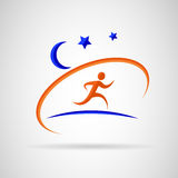 Night running Stock Photography
