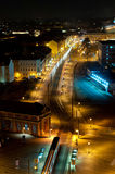 Night rush in a city Royalty Free Stock Images