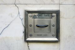 Night Safe in Wall Royalty Free Stock Images