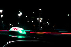 At night it is always safer to get a taxi Royalty Free Stock Photo