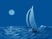 A night sail Royalty Free Stock Photography