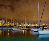 Night sailboats Royalty Free Stock Photography