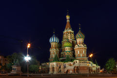 Night Saint Basils Cathedral Royalty Free Stock Image