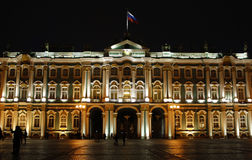 Night Saint Petersburg. Russia. Winter palace Stock Photos