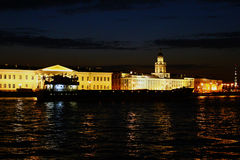 The night in Saint-Petersburg. Neva River at night in St. Petersburg Stock Images