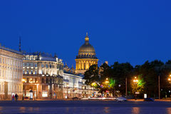 Night Saint-Petersburg, Palace square Royalty Free Stock Photo
