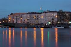 Night Saint Petersburg, Russia Stock Image