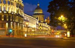 Night Saint Petersburg, Russia Stock Photo