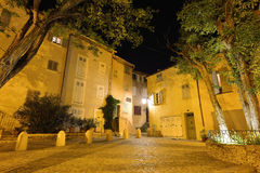 Night in Saint Tropez old city Royalty Free Stock Images