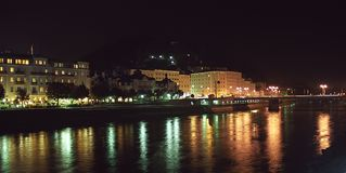 Night in Salzburg Stock Image