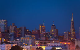 Night San Francisco panorama skyline view Stock Photography