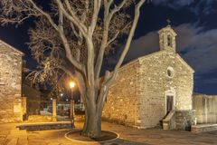 Night at San Giusto Royalty Free Stock Photography