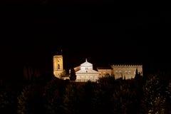 Night San Miniato al Monte, Florence, Italy Stock Images