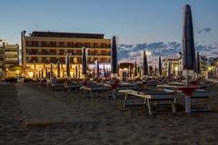 Night on the sandy beach in Italy. Night on the sandy beach in Caorle, Italy Stock Image