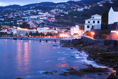 The night on Santa Cruz in Madeira island stock photography