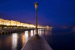Night in Santader city (Spain) Royalty Free Stock Photos