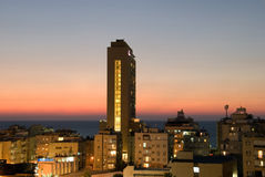 Night scape. Night landscape of Bat Yam (Israel royalty free stock image