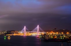 Night scape of Busan, South Korea royalty free stock photography