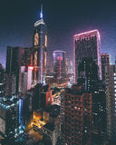 Night scape. Conquering Hong Kong stock image