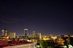 Night scape of Phoenix Arizona Royalty Free Stock Images