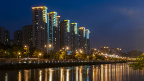 Night scape of Shanghai Royalty Free Stock Photography