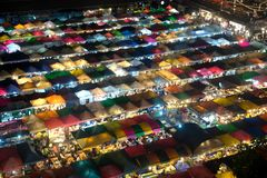 Night scence of Bangkok Panorama Aerial view of Bangkok night ma Royalty Free Stock Images