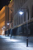 Night scene. In old center of Bucharest. Romania Royalty Free Stock Image