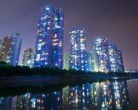 Night scene. The night in Shanghai, China Royalty Free Stock Photo